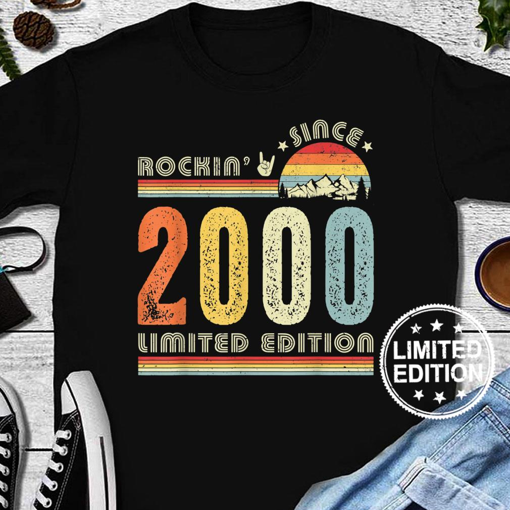 Vintage 2000 Rockin Since 2000 21st Birthday 21 Years Old Shirt long sleeved