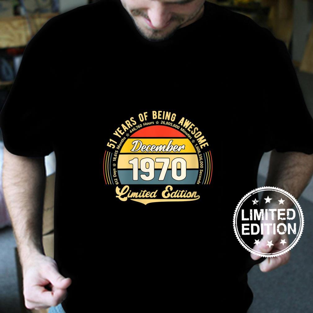 Womens Vintage 51 Year Old 612 Months Limited Edition 51st Birthday Shirt